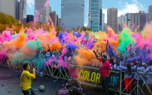 "Last summer's ""Color Run"" in Oklahoma City raised thousands of dollars for the Cystic Fibrosis Foundation. Photo cred: www.theladyokieblog.com"